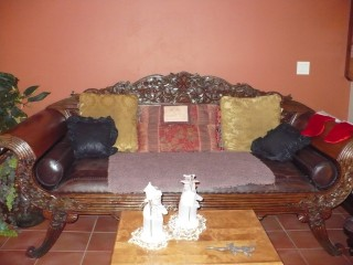 the extra large antique sofa!