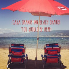 Ask about the beach chairs we have for our guests!