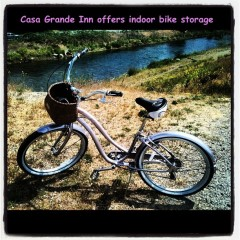 We have free indoor bike storage!
