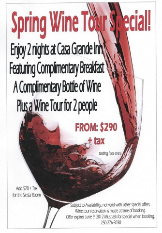 Wine Tour Special! expires June 9/2012